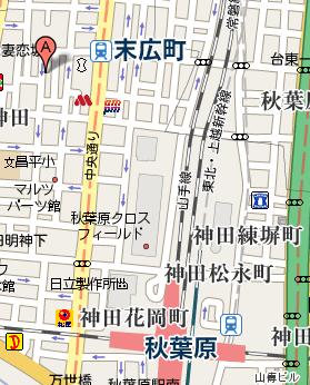 マップ1:クリエーターズカフェ秋葉原制作所